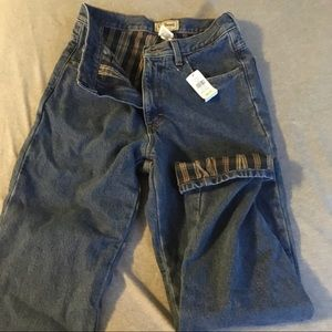LL Bean flannel-lined jeans